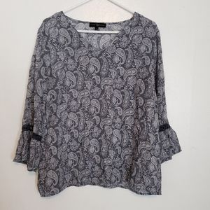Fred David light airy paisley top